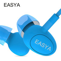 EASYA Professional Earphones Red Waterproof Headphones Heavy Bass Sound HiFi Headset Earbuds With Mic For Mobile Phone MP3
