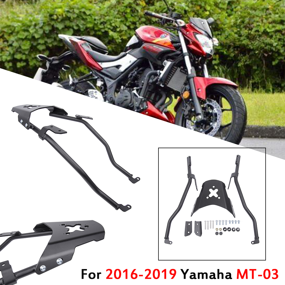 Motorcycle Rear Touring Carrier Luggage Rack Top Mount Bracket Shelf Fender Support for 2016 2017 <font><b>2018</b></font> 2019 Yamaha MT03 <font><b>MT</b></font> <font><b>03</b></font> image