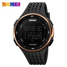 Skmei hombres deportes relojes de lujo impermeable electrónica digital led reloj militar masculino deporte reloj de pulsera reloj del relogio masculino