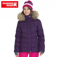 RUNNING RIVER Brand Women Winter Sports Down Jackets 5 Sizes Hooded Hiking Camping Jacket For Woman
