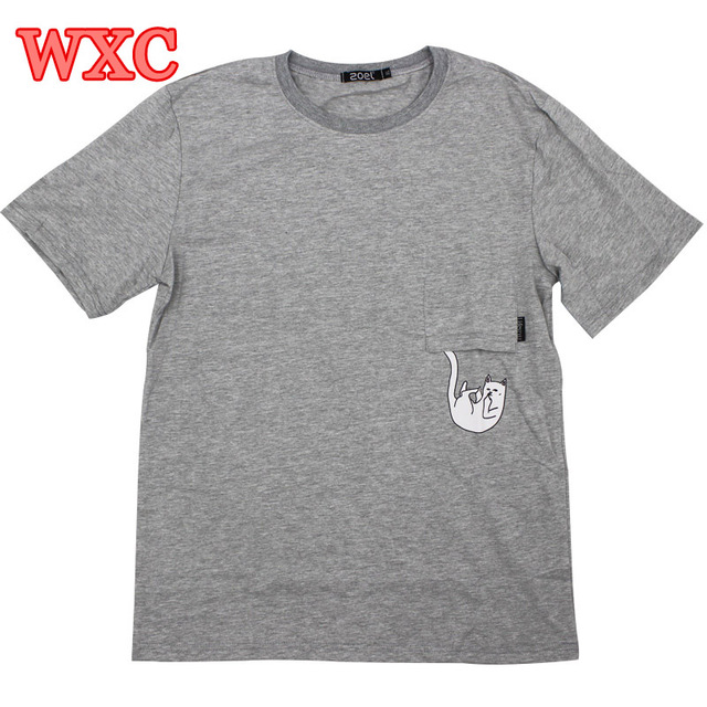 Переворот Карманные Cat футболка Хлопок Neko Atsume Рубашка Harajuku Повседневная Женщины Топы С Коротким Рукавом Школьная Одежда Лолита Топы WXC
