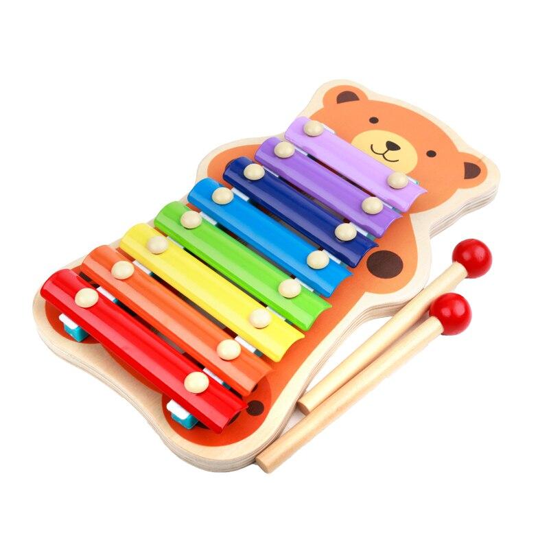 Деревянные музыкальные Игрушечные лошадки Мишка лягушка деревянная игрушка ксилофон развивающие Игрушечные лошадки Ударные инструменты ...