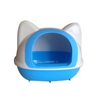 Большой ящик для мусора кошки приучение к туалету лотки кошачьих туалетов лопатой совок Kedi куму полу закрытые Mascotas поставки Pet 90A2288
