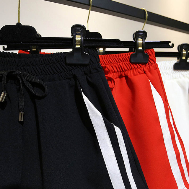 Summer Female High Waist Drawstring Sport Shorts
