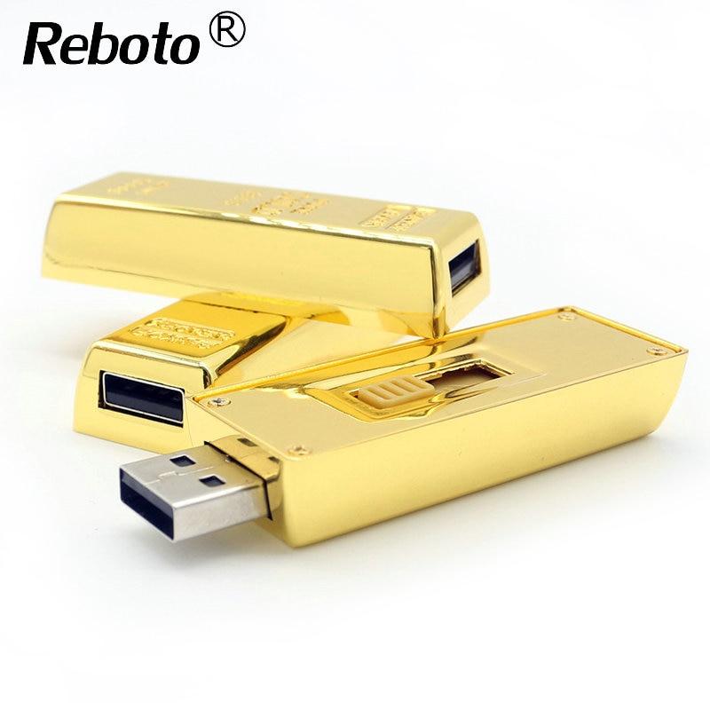 2018 luxury bullion gold bar pendrive 64gb 32gb 16gb 8gb. Black Bedroom Furniture Sets. Home Design Ideas