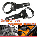 Set 2INCH BULLBAR MOUNTING BRACKET CLAMP FOR LED LIGHT RIGID GREAT WHITE HID