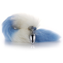 Metal Feather Anal Toys Fox Tail Cosplay Sex Adult Accessories Plug Long Toy Animal Role Play