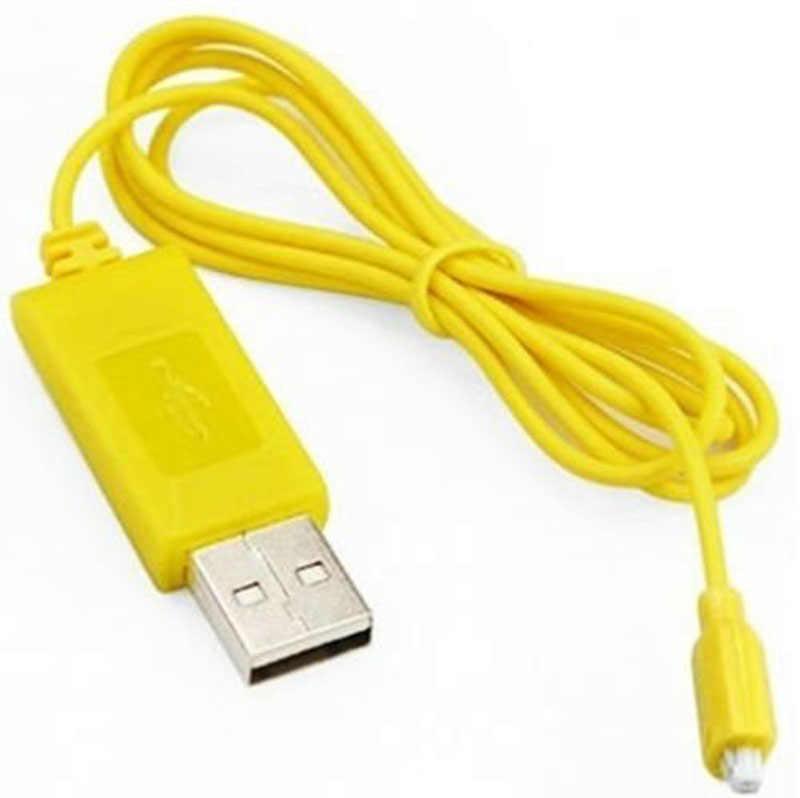 Precio bajo para helicóptero RC Syma S107 S105 Mini cargador USB piezas de Cable de carga amarillo