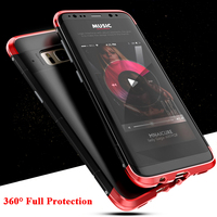 Luxury For Samsung Galaxy S8 S8 Plus Case 360 Full Protection 3in1 Aluminum Metal PC Hard