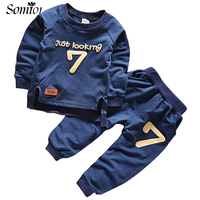 2017 Spring Baby Boys Clothes Sets Casual Sports Letters Tracksuit Infant Toddler Girls Clothes Top T