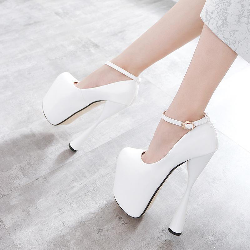 2018 Zapatos De Otoño Lace Tacones Las Talones Aire Sandalias Calzado  Bombas Up Primavera blanco Thin Sexy Negro ... f3810f306f76