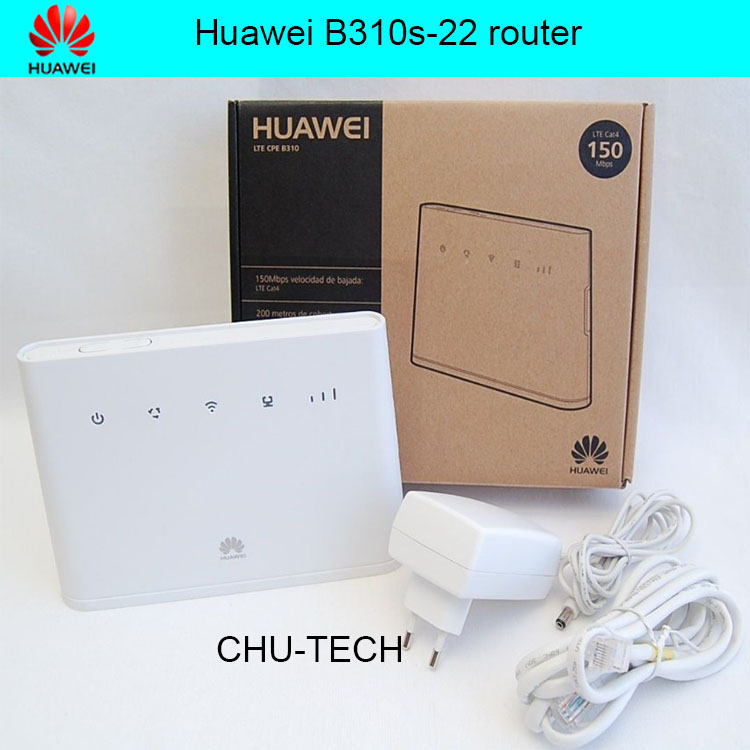 Unlocked Huawei B310 B310s 22 150Mbps 4G LTE CPE WIFI ROUTER Modem with Sim Card Slot Up to 32 Devices