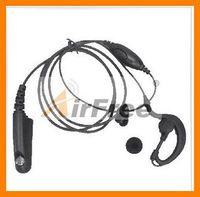 Ouvido pendurar fone de ouvido ptt para motorola gp328 gp338 gp329 gp339 gp340 gp360 gp380 w/ptx760 mic para fone de ouvido, Microfone do fone de ouvido