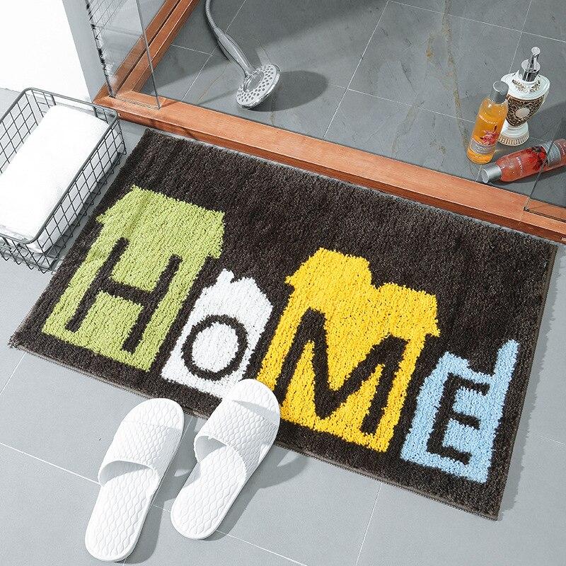 Tapis de ménage noir cuisine chambre tapis salle de bain tapis absorbant tapis de pied