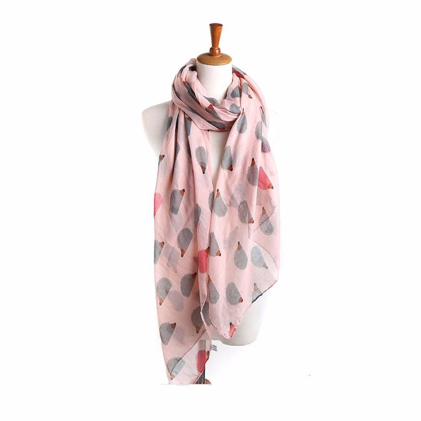 New Arrival Popular Style Women Ladies Hedgehog Pattern Long   Scarf   Warm   Wrap   Shawl Sumptuous Poncho Neckerchief   Scarves   Tippet