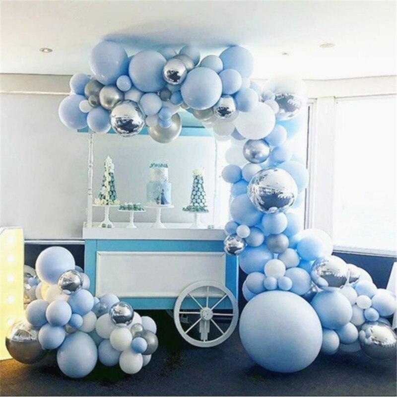 Party Deko Ballons Hochzeit Girlande Folien Luftballon mit 30 LED in weiß Fest