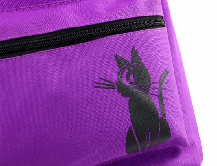 Милые девушки фиолетовый Луна кошка сумка Harajuku аниме Сэйлор Мун Луна рюкзак мультфильм холст подростков девочек женщин школьные сумки ноутбук Трев