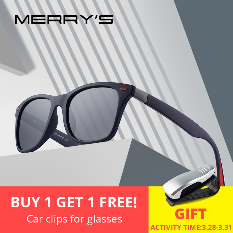 MERRYS diseño de las mujeres de los hombres de mujer T/clase camisa/Camiseta tipo mujeres de suave camiseta ser amable remache gafas de sol polarizadas diseño más ligero marco cuadrado de 100% de protección UV S8508