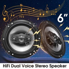 2 Pcs 6 Inch 350W Car Audio Speaker 4 Wa