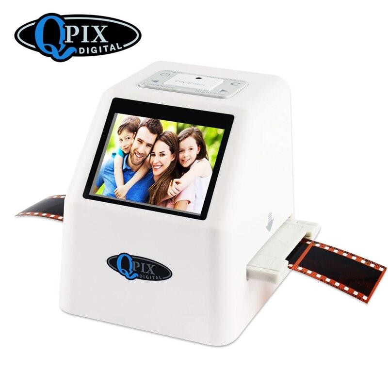 Portable Film Scanner Resolution 22 Mega Pixels 110 135 126KPK Negative Slide 35mm Scanner Digital Film Converter with 2.4LCD
