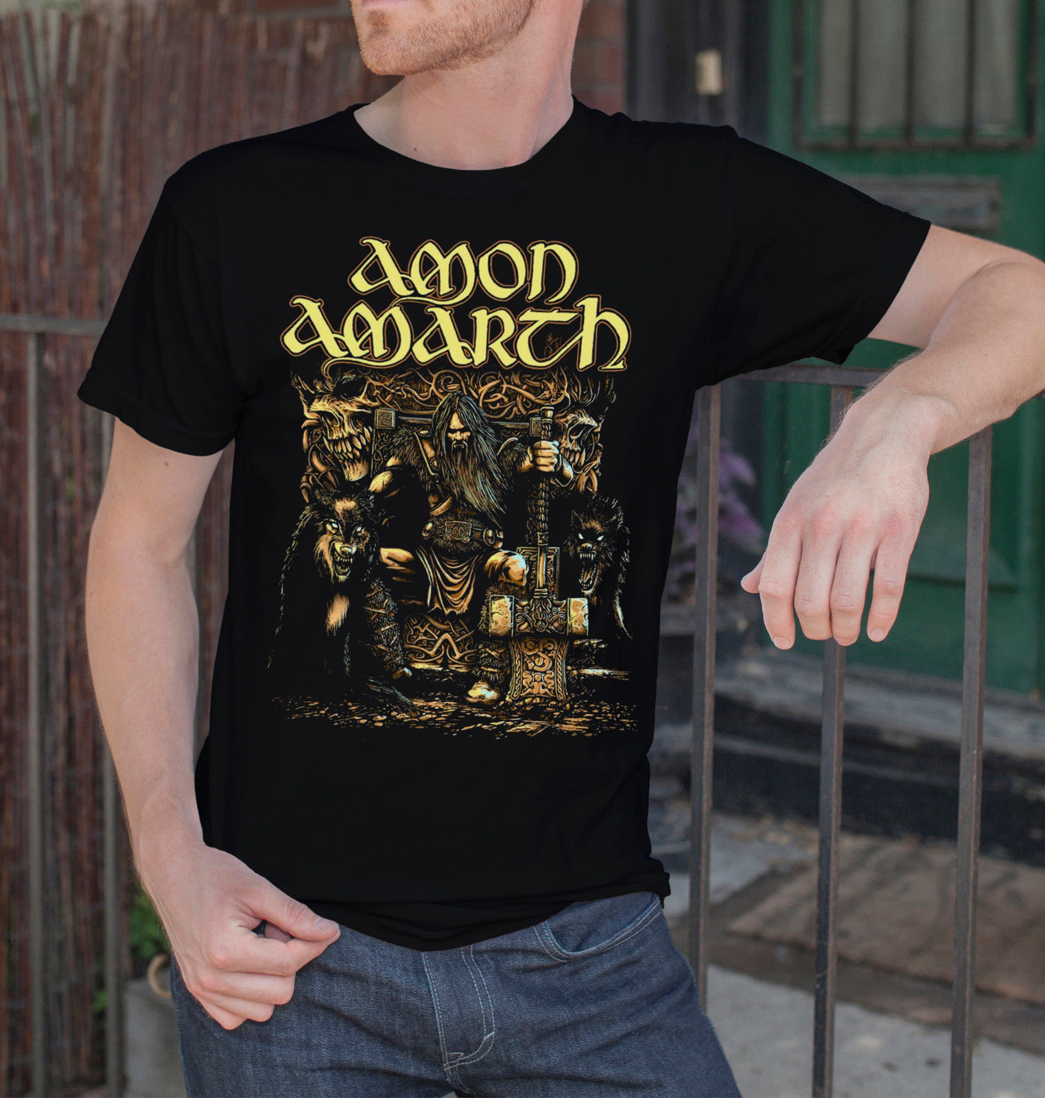 Amon Amarth Men Black T Shirt Death Metal Band Tee Shirt Vikings Swedish Metal Short Sleeves New Fashion T Shirt Men Clothing in T Shirts from Men 39 s Clothing
