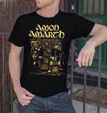 Amon Amarth Men Black T-Shirt Death Metal Band Tee Shirt Vikings Swedish Metal Short Sleeves New Fashion T Shirt Men Clothing
