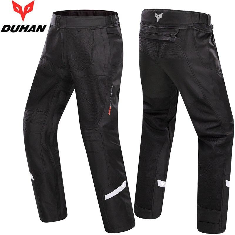 Летние сетчатые Ткань Оксфорд Духан dk201b Мужская Moto rcycle Штаны с колена Moto крест брюки Размеры M, L XL, XXL черный, серый, белый