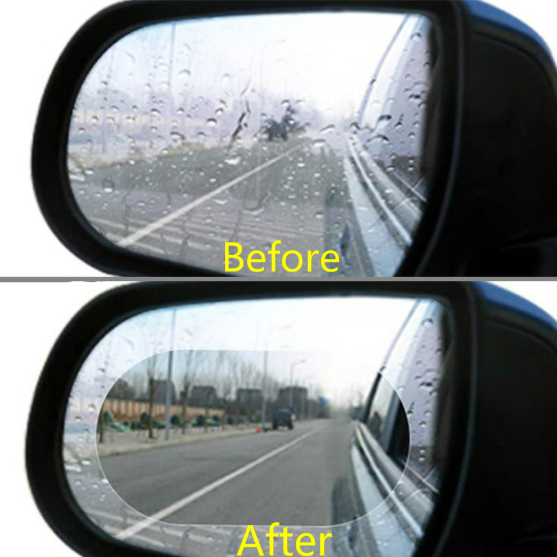 2PCS Car Rearview Mirror Protective Film Anti Fog Window Foils Clear Rainproof Rear View Mirror Motorcycle Protective Soft Film 2pcs car rearview mirror waterproof membrane transparent clear film sticker film for cars see more clearly on rainy days safer