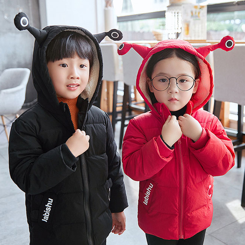 Children's down cotton baby baby cotton coat boys and girls children's autumn and winter cotton jacket hooded FREE 2018 autumn and winter boys and girls jacket baby winter thick warm cotton clothes baby hooded quilted jacket
