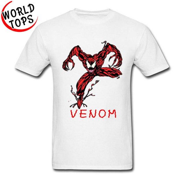 977b67cb0 Camisetas populares Venom Spider Man Red Marvel película impresión veneno  tóxico caballero oscuro Geek camiseta mujeres