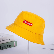 2019 Summer Cotton Colored Letter Embroidery Bucket Hat Fisherman's Hat Outdoor Hat Travel Sun Caps 4 Colors For Women For Men