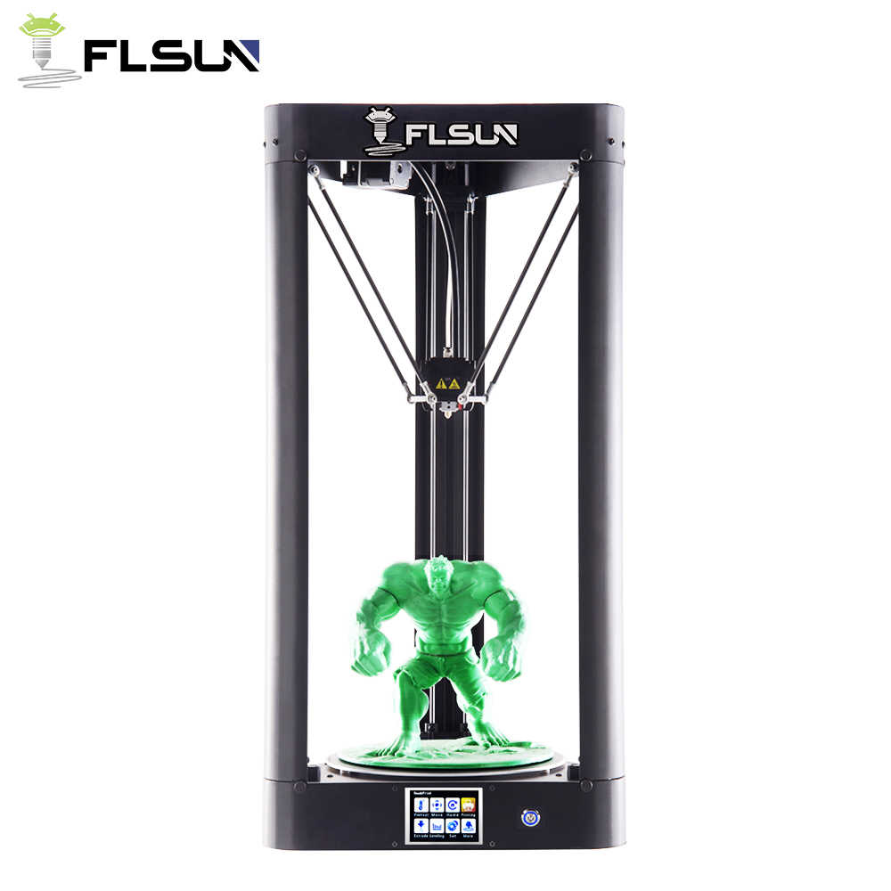 Newest FLSUN-QQ-S 3d Printer 24v Power 32 Bits Controller Touch Screen Auto-leveling High Speed 95% Pre-assembly 3d Printer