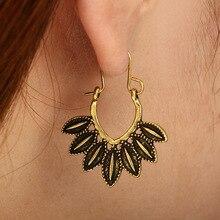 2019 Bohemian Fashion Geometric Beach Shell Earrings Vintage Leaf For Women Jewelry Accessories Wholesale