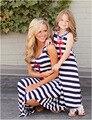 Los niños Muchachas de La Raya del Vestido de La Madre Madre Hija Leggings Verano Vestido de Ropa de la Familia Madre E Hija Trajes A Juego