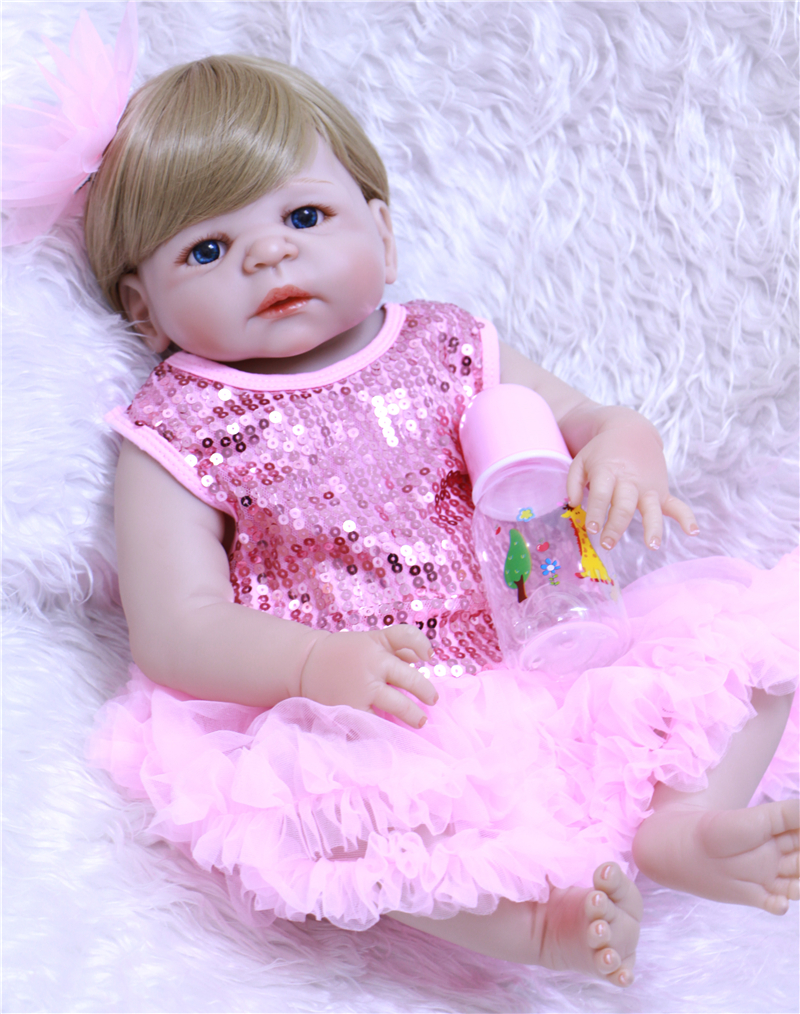 Real Bebe Girl Doll 22 Quot Full Silicone Reborn Baby Dolls