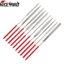 File-Set Needle Hand-Tools Gem-Stone Ceramic Hobbies Diamond Mini 10PCS NICEYARD