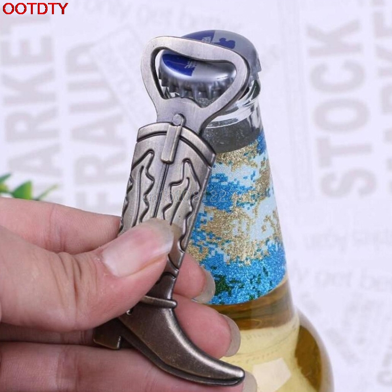 Bottle Opener Hitched Cowboy Boot Western Birthday Wedding Favor Party Cute Tool #H0VH#