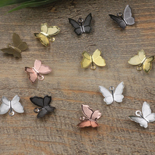 100PCS 11mmx13mm Metal Copper Butterfly Filigree Wraps Conne