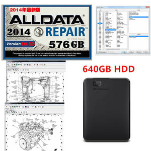 Software Diagnostic Alldata Auto-Repair Support-Windows-7/8 HDD 640GB Free-Install V10.53