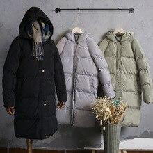 2016 Do Sexo Feminino over-the-knee-inverno de algodão acolchoado jaqueta plus size espessamento outerwear casacos das mulheres das mulheres casacos S-XXL