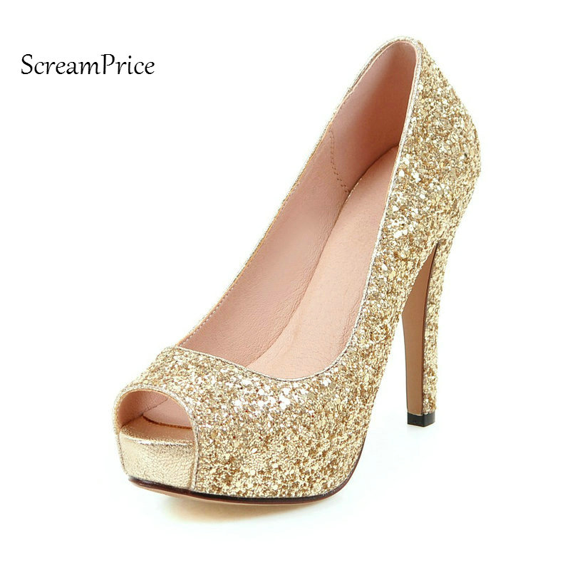 The New Bing Peep Toe Platform Thin High Heel Woman Pumps Sexy Shallow Wedding High Heel Shoes Spring Autun Shoes Black Red hot selling crystal embellished wedding heels sexy peep toe platform pumps woman high heel shoes