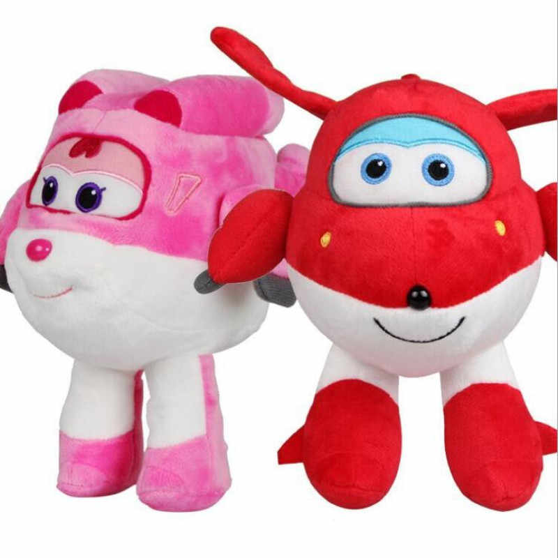 20Cm Super Wings Mini Pesawat Mewah Toyss Deformasi Robot Pesawat Donnie Pusing Mira Jett Paul Grand Albert Action Figure mainan