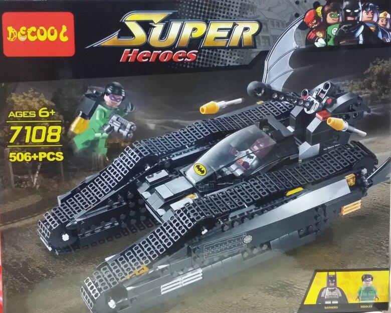 Decool 7108 The Bat Tank Compatible lepin 7784 Super Heroes Batman Figures Building Blocks Toys For Children Brithday Gift