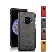 Pierre Cardin Hot Sale Brand Ultrathin Genuine Leather Hard Back Cover For Samsung Galaxy S9 S9