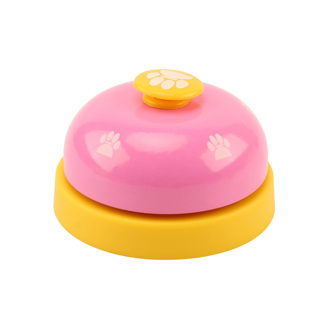 Pet Toy Training Called Dinner Small Bell Footprint Ring Dog Toys For Teddy Puppy Pet Call 4
