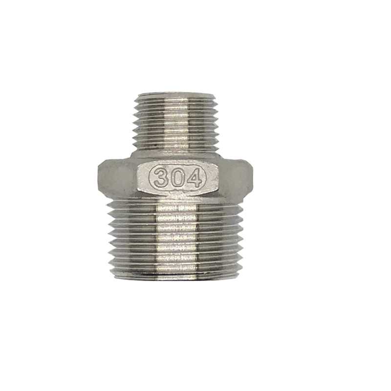 Hex Nipple Union 304 Stainless Steel Pipe Plumbing Fitting Connector Reducer 1/8