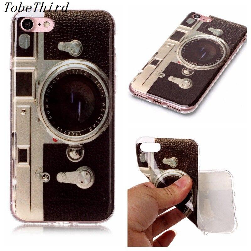 Tobethird For <font><b>iPhone</b></font> <font><b>7</b></font> Case Monkey Camera Elephant Panda Pattern Soft TPU Back Cover Case For <font><b>iPhone</b></font> <font><b>7</b></font> Mobile <font><b>Phone</b></font> <font><b>Accessories</b></font>