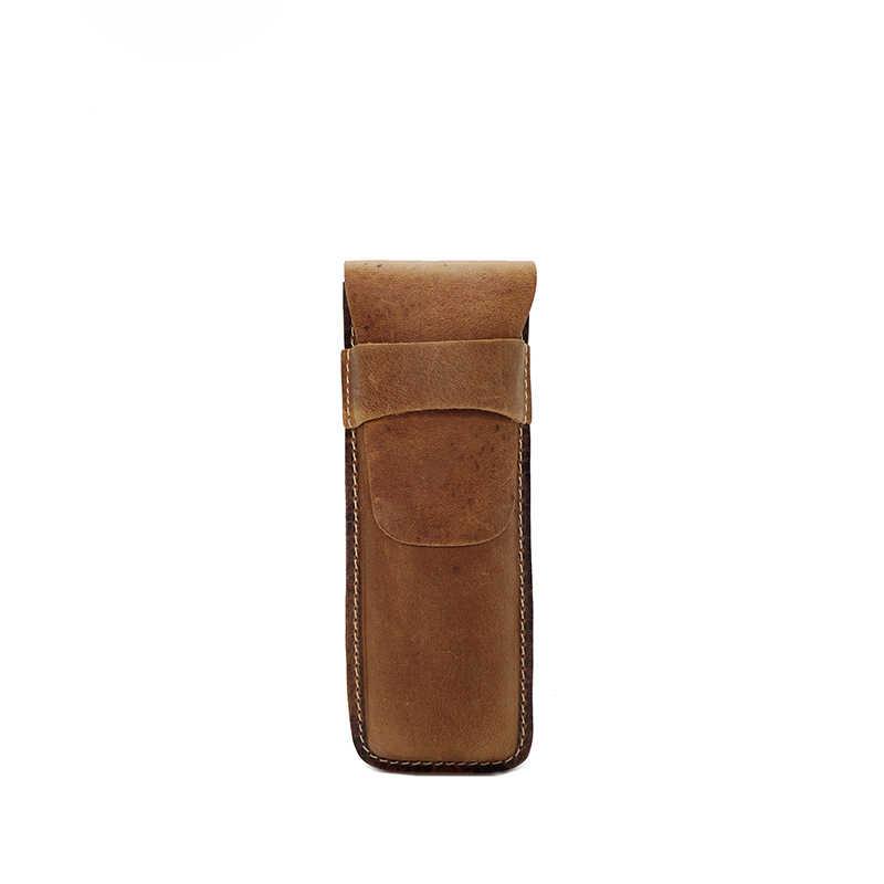Оригинальная Мужская сумка из натуральной кожи ручной работы, Женская ручка, кошелек, пенал-конверт, сумка, винтажный стиль, косметическая сумка для макияжа