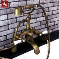 Sàn mounted antique bồn tắm vòi nước
