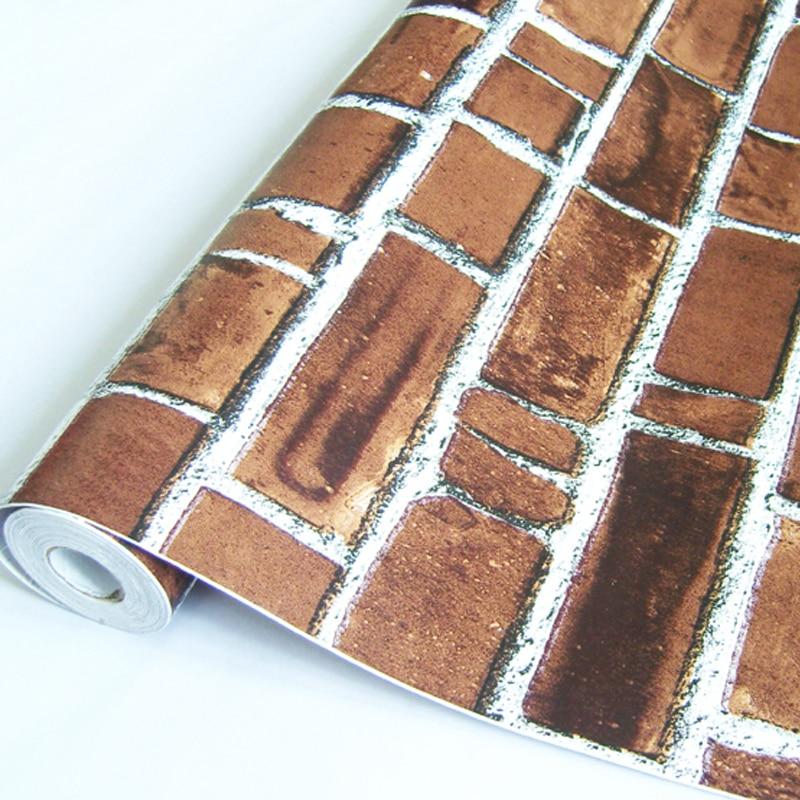 2016 PVC waterproof self-adhesive wall stickers dark brick grain back plastic wallpaper bedroom balcony dormitory corridor label мозаика l antic colonial frame brick dark 10x20 28 5x31 1